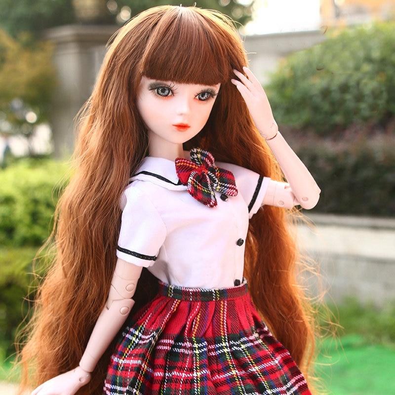 1//3 BJD Dolls 60cm Reborn Ball Jointed Lifelike Beautiful Girls Make-up FULL SET