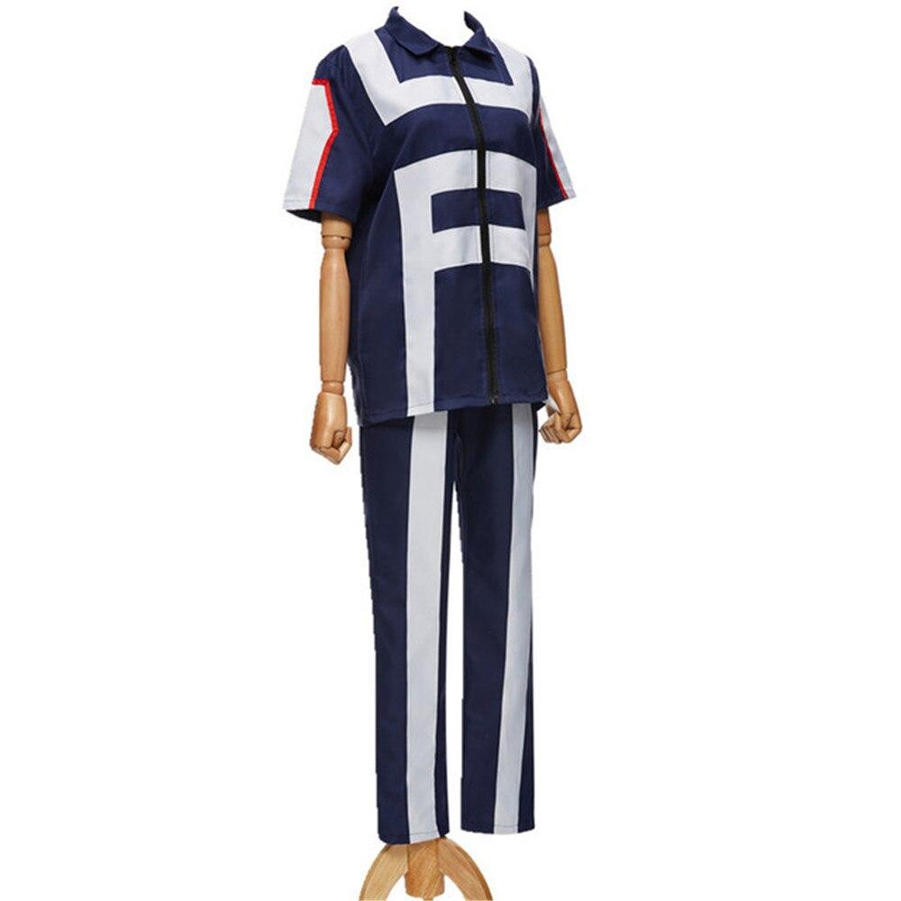 Cosplay Costume Corrective Sports-Tops Academy Hero Bakugou Tenya/todoroki for Girl Pants