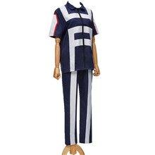 цены на hero bakugou katsuki / Iida tenya / todoroki shouto Cosplay costume my hero Academy Sports Tops corrective + Pants for girl  в интернет-магазинах