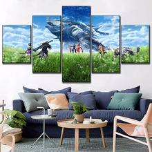 Modern Canvas Print Game Xenoblade Chronicles 2 Poster 5 Piece Modular Combinatorial Picture Home Decorative Wall Art Draw