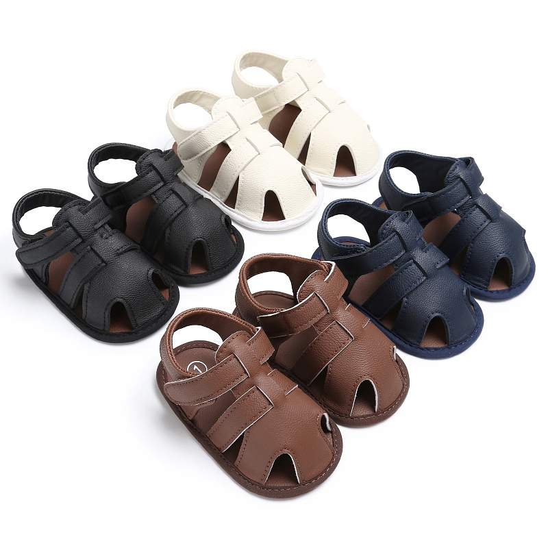 Summer Beach Sandals Baby Boys PU Sandals Shoes Soft Hollow Shoes Boys Sandals ...