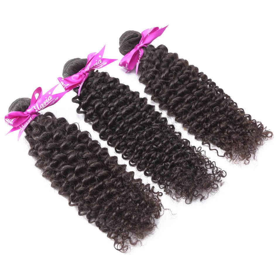 ILARIA HAIR Afro Kinky Curly Peruvian Virgin Hair Bundles 2Pcs/Lot 100% Human Hair Weaves Hair Weaving Natural Color Top Quality