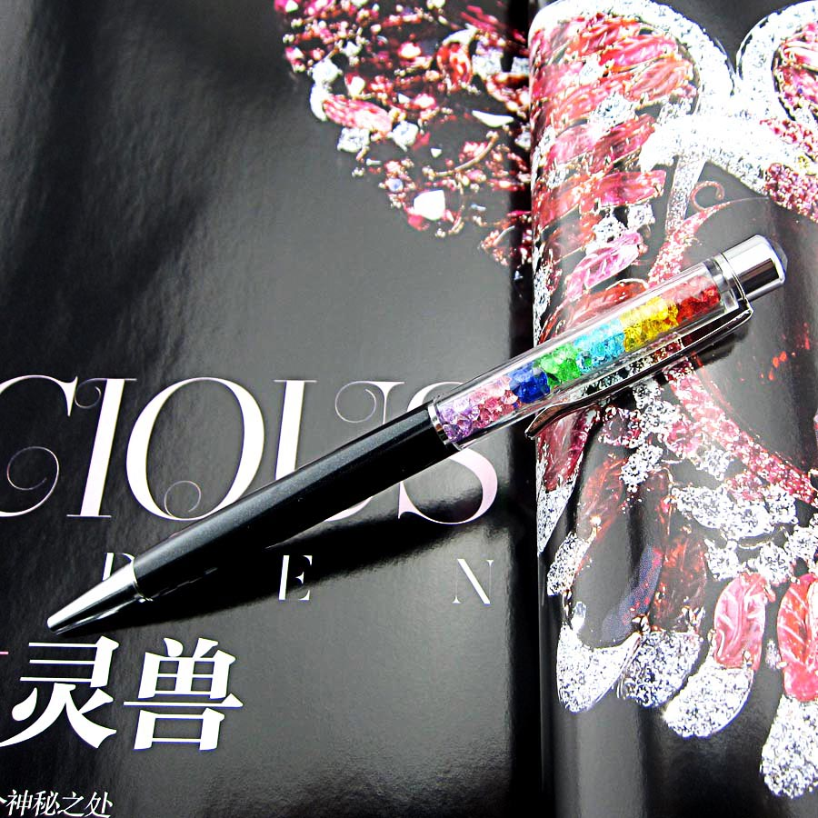 Image 3 - 1000Pcs/Lot Lady Rainbow Crystal Diamond Ballpoint Pen Stationery Ballpen Office Material School Supplies can engrave characters-in Ballpoint Pens from Office & School Supplies