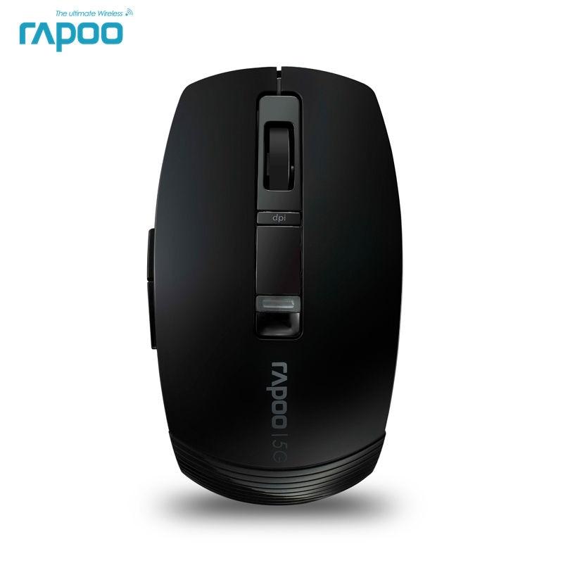 цена на Original Rapoo 3710P 5.8G Laser Gaming Mice Ergonomic Wireless Mouse With 1600DPI Laser Engine for Macbook Laptops Desktops PC