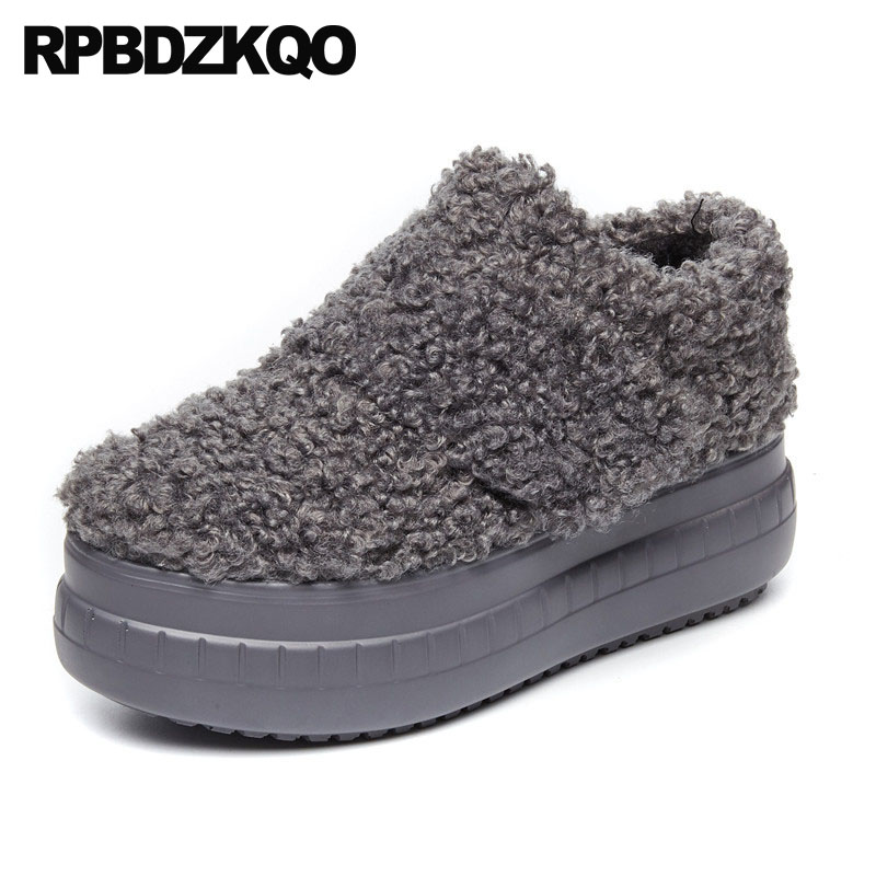 elevator fitness round toe women china thick sole creepers platform shoes comfortable fur muffin factory direct winter grayelevator fitness round toe women china thick sole creepers platform shoes comfortable fur muffin factory direct winter gray