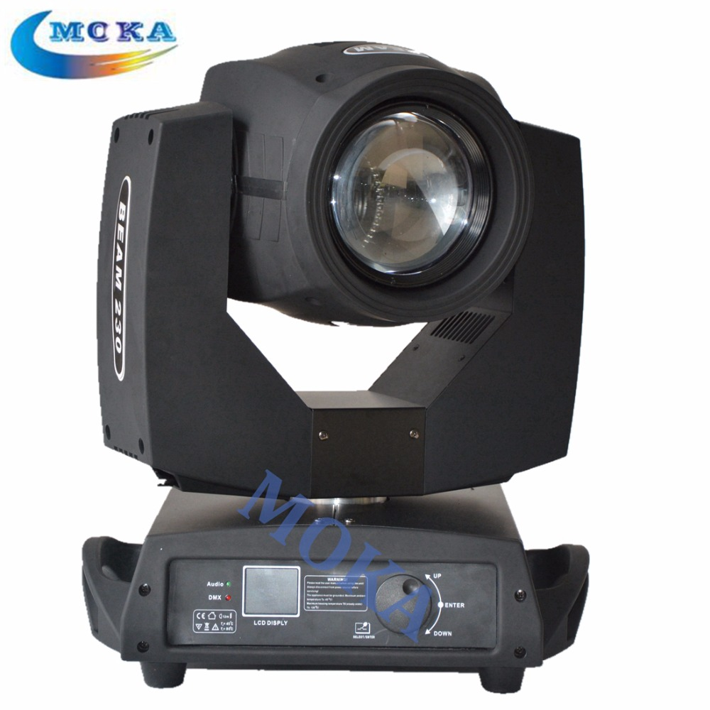 2pcs lot beam 230 moving head sharpy 7r beam moving head light with flight case in stage. Black Bedroom Furniture Sets. Home Design Ideas