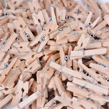 100 PCS Clips Mini Houten Wasknijpers Decoratieve Wasknijpers Home Decor Kleden Foto Peg Wasknijper Clips Dropshipping # FG29(China)