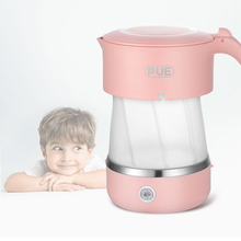 Foldable Electric Kettle Food Silicone Travel Water Kettle Portable Mini Water Boiler Home with Universal Plug цена и фото