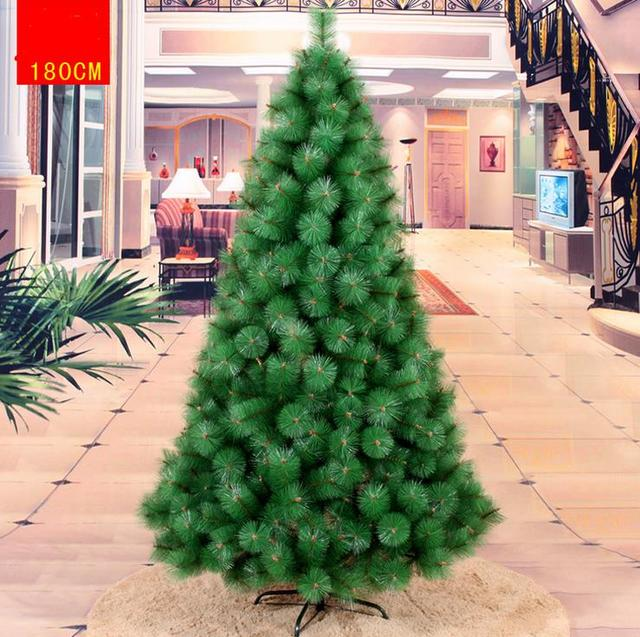 18m 180cm luxury encryption christmas pine neddle tree diy decor pvc metal frame xmas