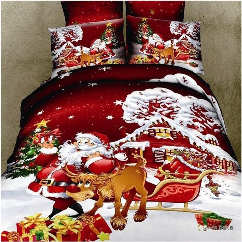 프로모션 어린이를위한 크리스마스 선물 침구 세트 이불 커버 침대 세트 침구 류 깃털 이불 커버 침대 커버 전체 / 여왕