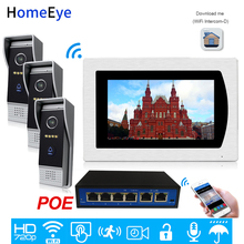 Wifi Video Intercom Smart Phone App Unlock IP Video Door Phone 3 Doors Home Access Control System Motion Detection Touch Screen touch screen wired wifi ip video door phone intercom video doorbell villa apartment access control system motion detection