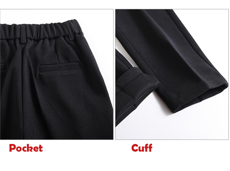 19 Autumn New Women Elastic Woolen Pant Female Plus Size Casual Trousers Black/Gray Harem Pants Winter Wool Ankle-Length Pants 44