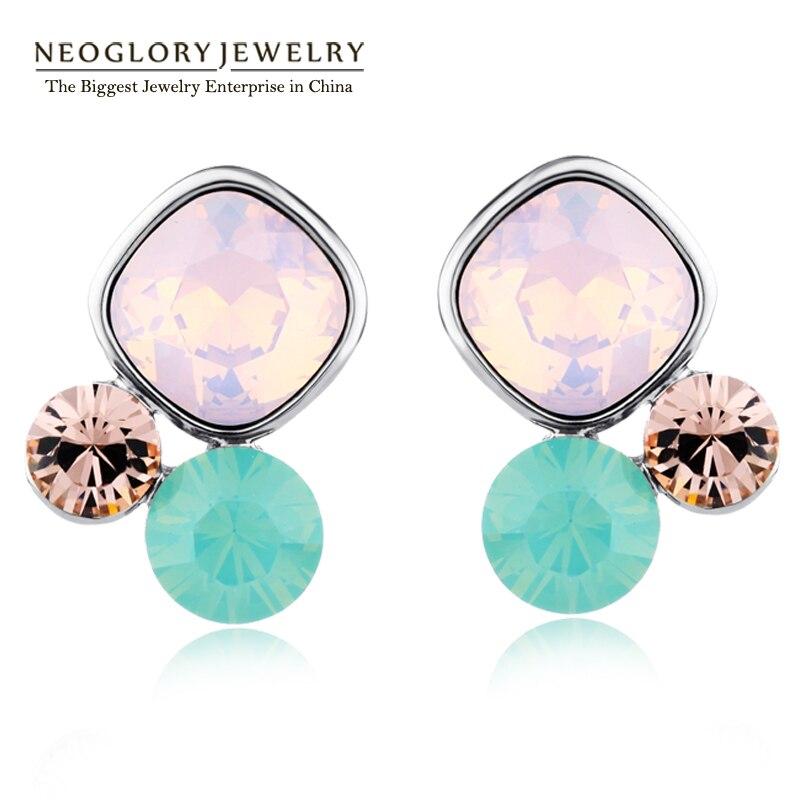 Neoglory, австрийские стразы, очаровательные серьги, подарки для девушек, модные милые ювелирные изделия, новинка, известный бренд, дизайнерские JS1 JS9