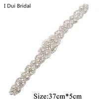Rose Gold Three Color Bridal Rhinestone Belt Applique Crystal Pearl Rhinestone Trim Wedding Bride Accessory New Style