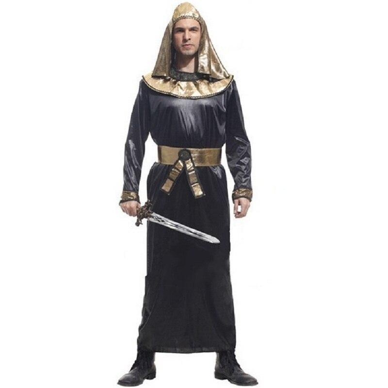 Egyptian Pharaoh Adult Man's Carnival Halloween Costumes Men Fantasias Dresses Fantasy Fancy Party Dress Costume