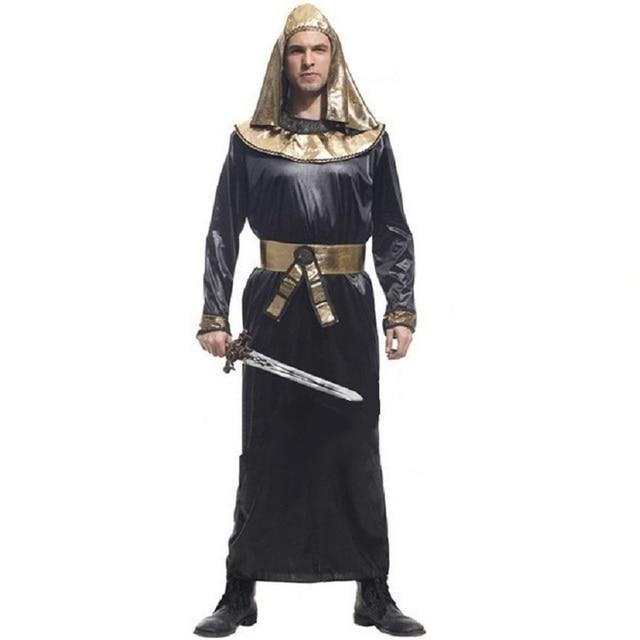 Egyptische Mannen Carnaval Halloween Man Kostuums Farao Volwassen 1JFKlc