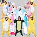 Otoño e Invierno de Halloween Conjuntos de Pijamas de Dibujos Animados Mujeres Ropa de Dormir Pijamas Animal Pijama de Franela Puntada Panda Unicornio Queridos