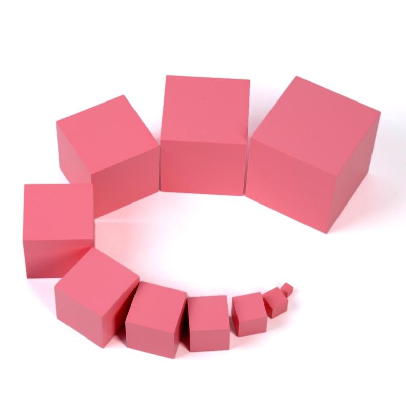 Montessori profesional torre rosa sin soporte 1 cm a 10 cm Educación Temprana Preescolar niños Juguetes Brinquedos Juguetes - 3