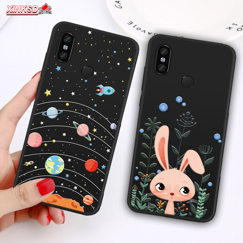 Patterned Phone Case For Xiaomi Mi 8 A2 Lite A1 5X 6X  Matte Cover Redmi 5 Plus 6 Pro 4X Note 5 6 Pro 5A prime S2 Y2 Soft Shell