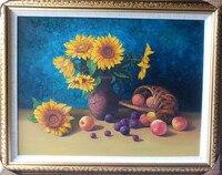 New Paintings Hot Sale Fruit Diamond Embroidery sunFlowers Cross Stitch Set Sets Needlework Patterns Picture Rhinestones
