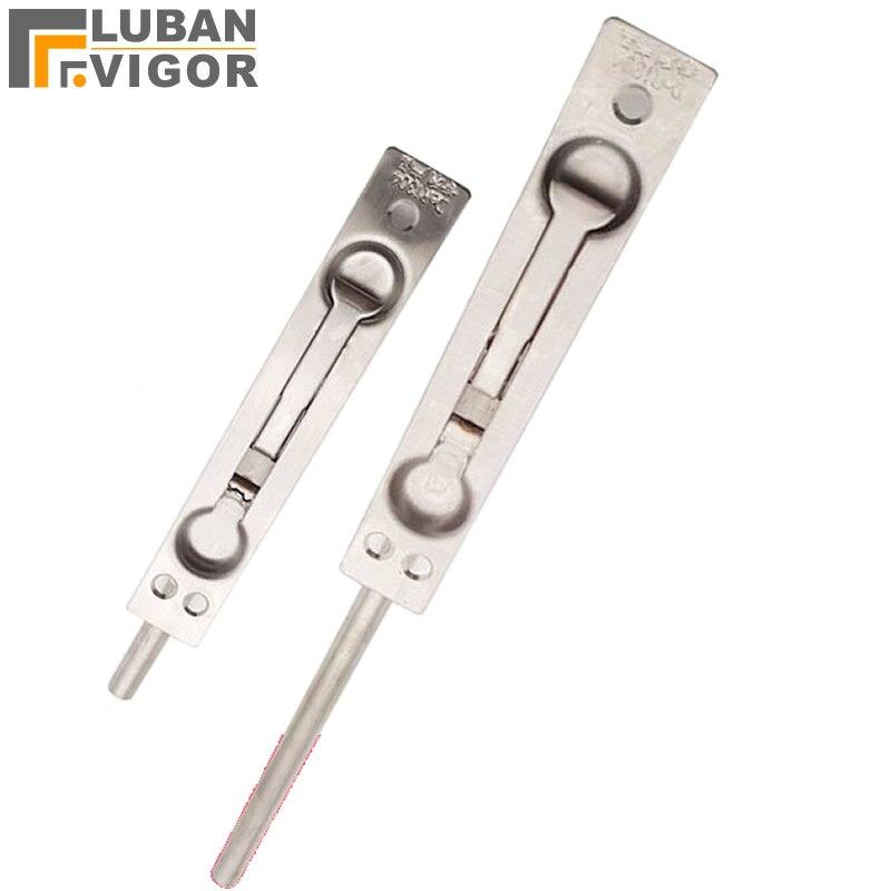 Stainless steel Security door hidden plug/bolt/latch/,For Double door,no rust,more safe and strong,Hardware Locks