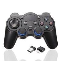 2.4 GHz Antislip PC Gamepad Joystick Controlador Sem Fio Para O Android TV Box PC GPD XD Controladores de Jogos de Computador Com USB receptor