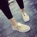 2017New Стиль Женщины Повседневная Обувь Slip-On Круглым Носком С Молнии Твердые Весна Плоские Туфли Платформа Мягкая Harajuku Zapato Mujer XJ302