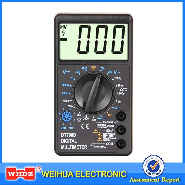 WHDZ DT700D Mini Digital-Multimeter Großen Bildschirm überlastschutz Summer Rechteckwellenausgabe Ampere Spannung Ohm Tester Sonde