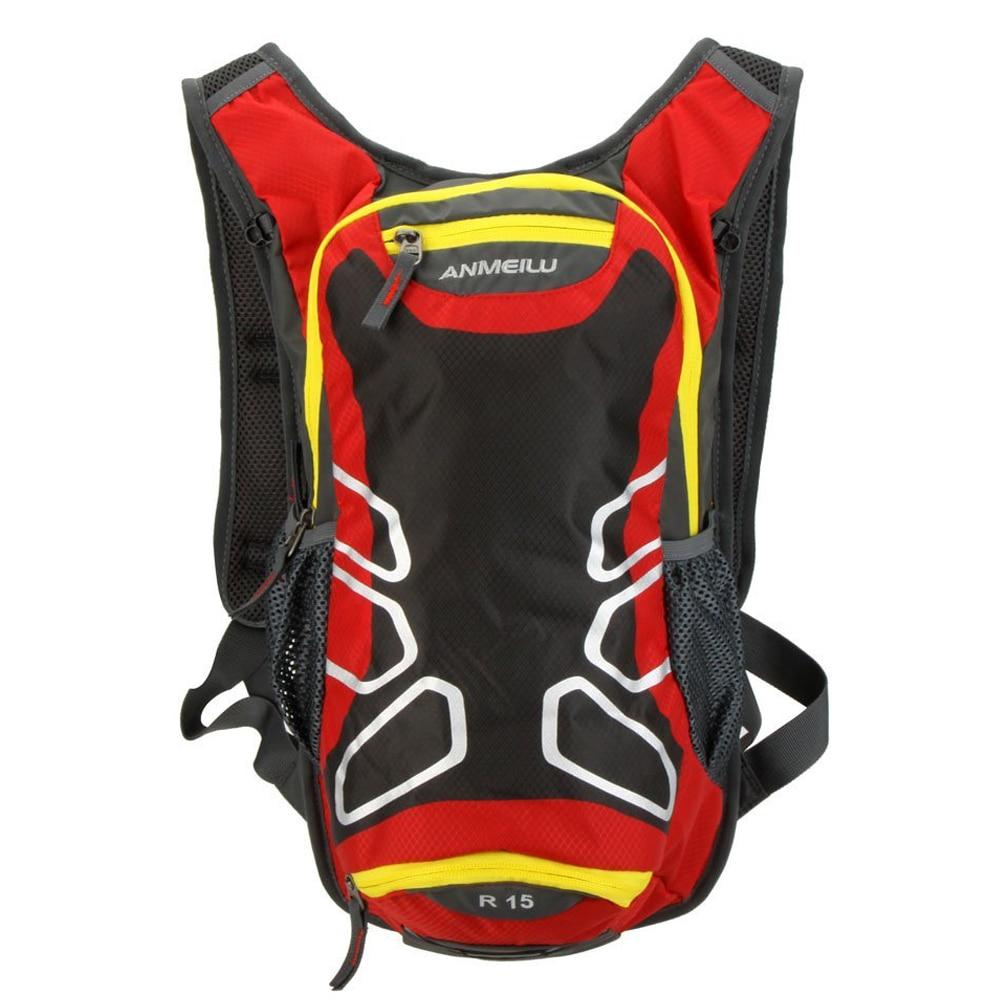 ANMEILU Riding Backpack Cycling Outdoor Shoulder Waterproof Hiking Mountain Bike Tour, Camping, Running Water Bag Red