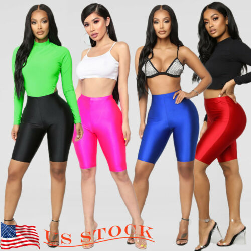 Hirgin 2019 Hot Women Cycling   Shorts   Dancing Gymwear Biker   Shorts   Active Sports Pure Color Wholesale