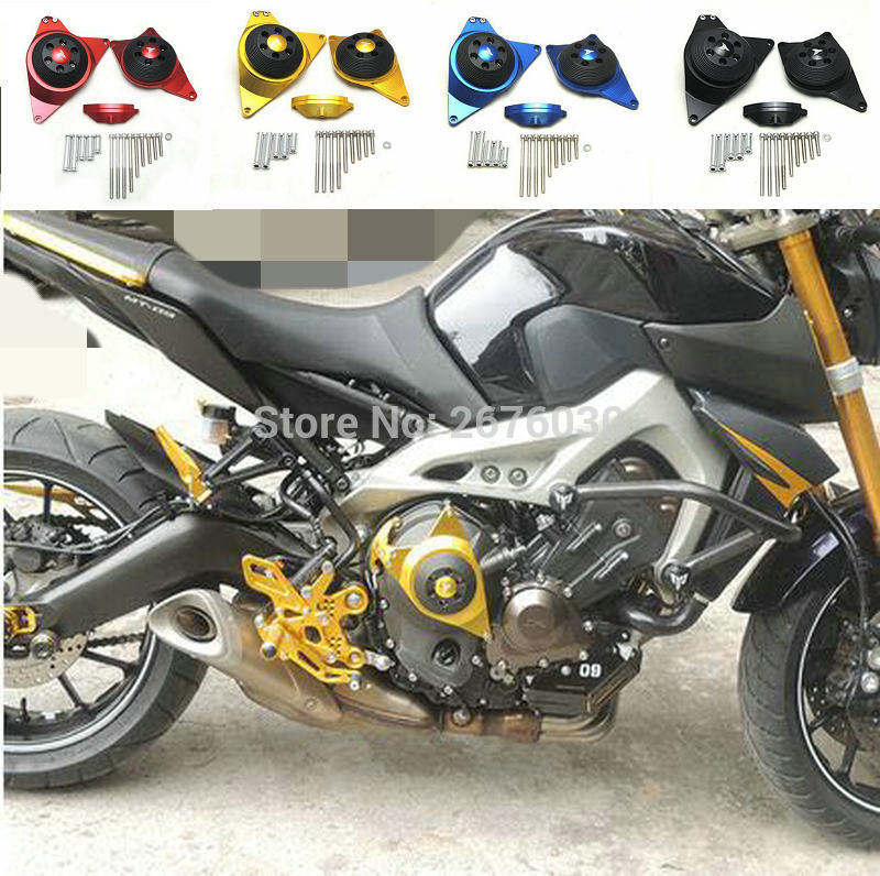 Free Shipping MT-09 TRACER Full Engine Stator Case Plug Clutch Cover Protector R&L For Yamaha MT-09 mt 09 tracer CNC Aluminium 1 piece free shipping anodizing aluminium amplifiers black wall mounted distribution case 80x234x250mm