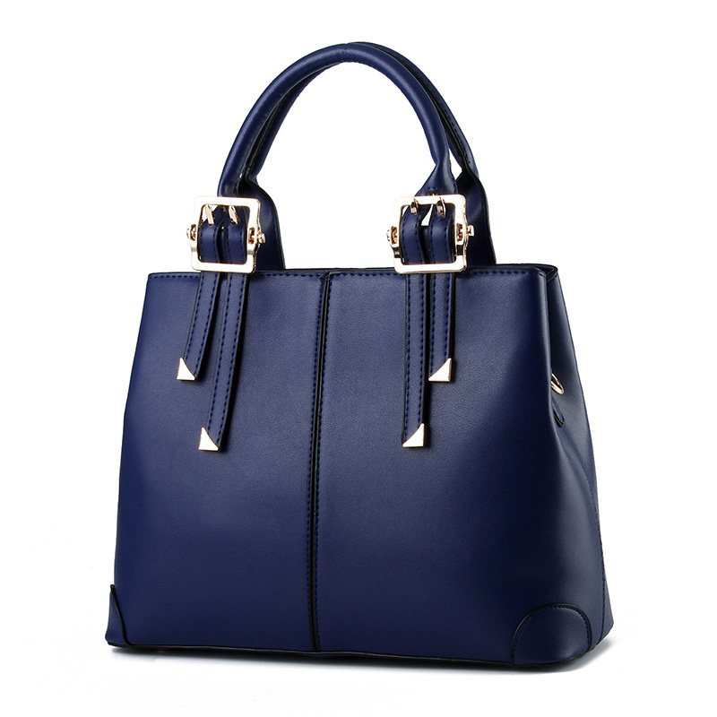 New Fashion PU Shoulder Bag Elegant Royal Blue Office Lady Women Handbag Casual Clutch Tote Festival Gift carslan 1 2