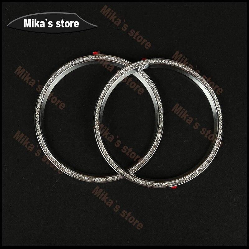 4 pièces/ensemble climatisation sortie métal Set tarière décorative cercle autocollants voiture style seulement pour MINI Countryman R60 R61