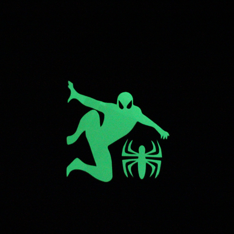 10pcs/lot fluorescent glow in the dark spiderman switch sticker