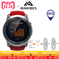 11.11 6usd coupon In Stock Makibes G05 Men's GPS WristWatches Color Screen Smart Watches multi sports Smartwatch Bluetooth 4.0