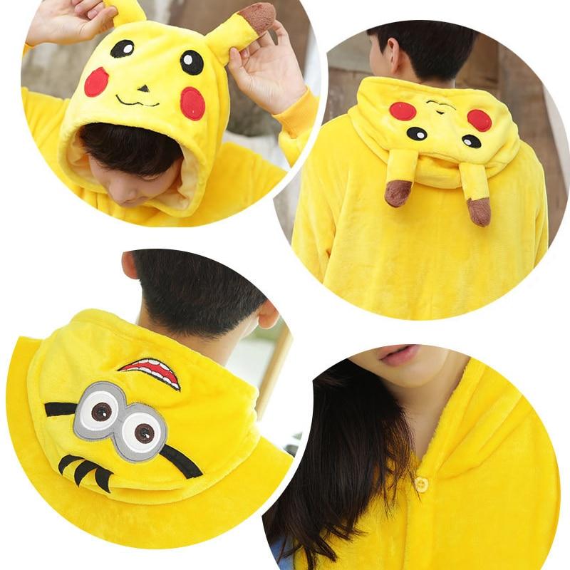Homewear Erwachsene Kinder Pyjamas Pikaqiu Minions Cosplay Unisex - Kinderkleidung - Foto 6