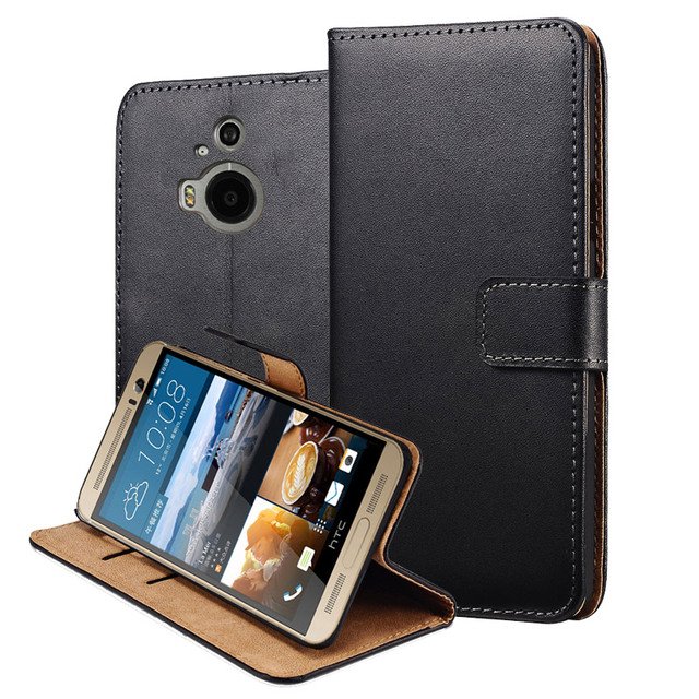 online store f0787 d9386 US $2.19 45% OFF For HTC M9 Plus Cover Luxury Genuine Leather Flip Case for  HTC One M9 Plus Stand Wallet Caso Capa Leather Cover with Card Holder-in ...