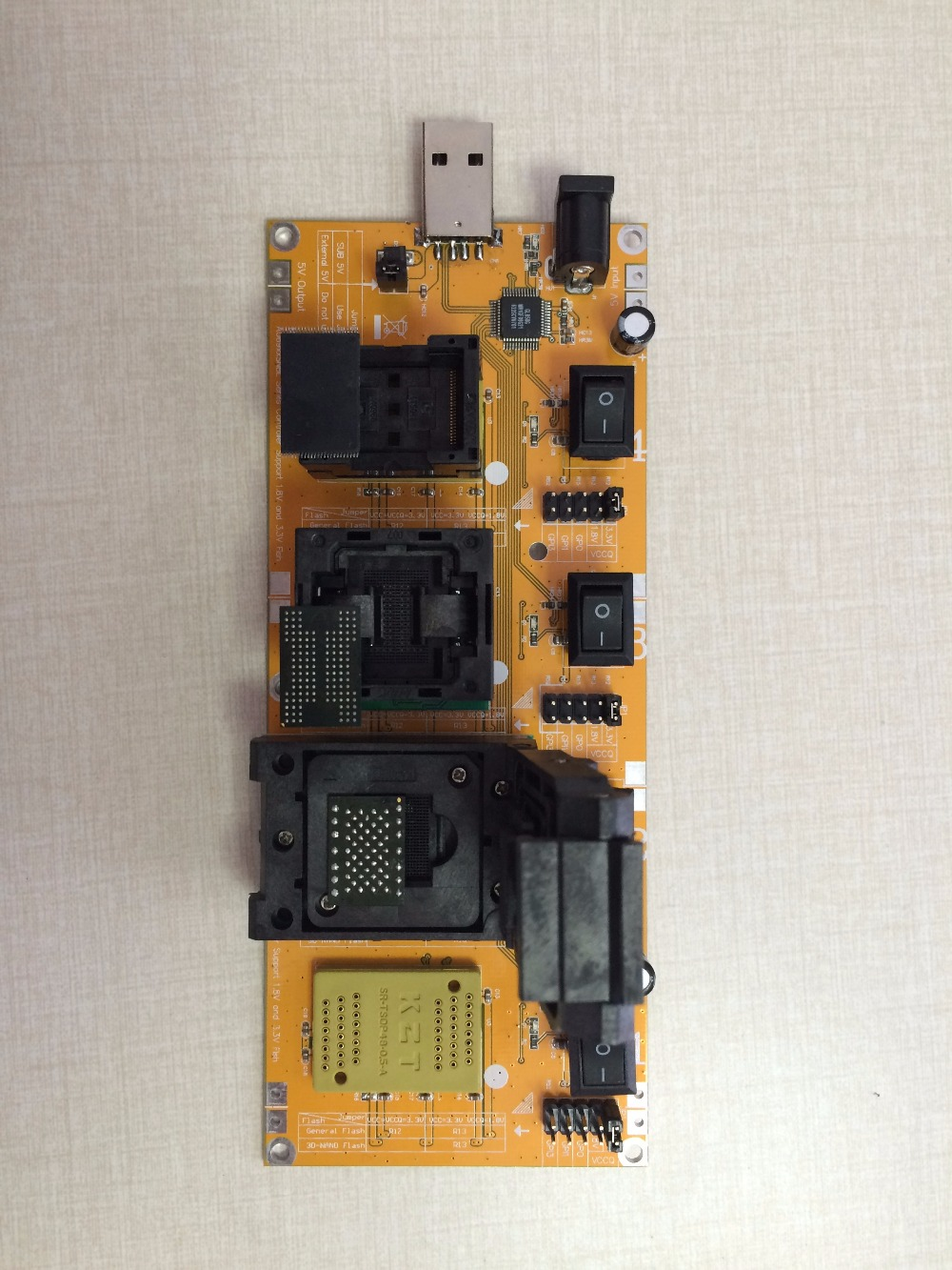 Купить с кэшбэком Flash chip batch tester for U disk flash clearance second-class or recyle chips BGA152 BGA132 BGA100 BGA88 LGA52 TSOP48