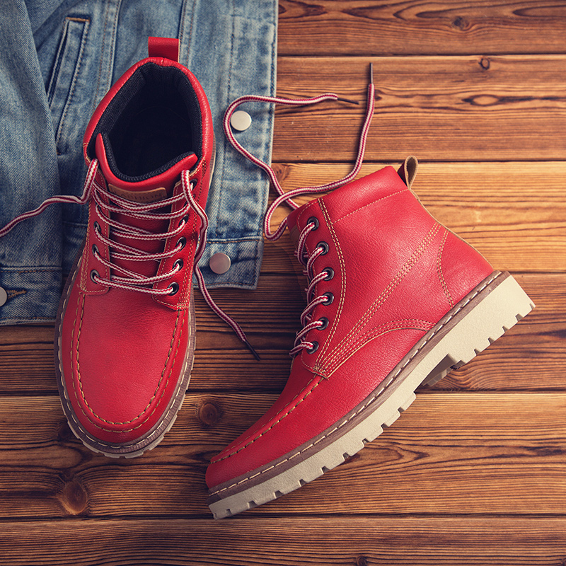 Masculinos De Impermeable Nieve Chaussure Hombres brown Homme Alta Krasovki grey Pu Casual red Moda Zapatos Calidad Black Moto Botas Invierno RqWYO6nFt