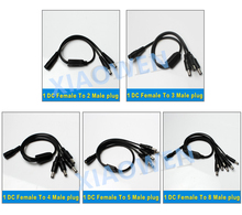 1 DC Female To 2 3 4 5 8 Male plug Power Cord 5 5x2 1mm