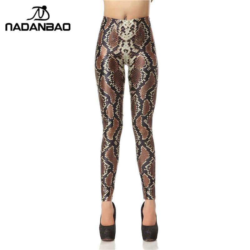 NADANBAO New Design Fashion 3D Digital Snakeskin Legins Slim Leggins Printed Women   Leggings   Women Pants