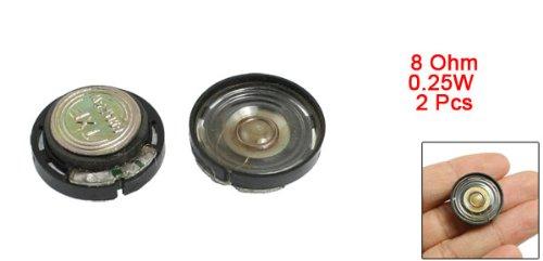 Brand New Small mini speaker 20mm Magnetic Type Round Plastic Shell Speaker 8 Ohm 0.25W 2 pcs