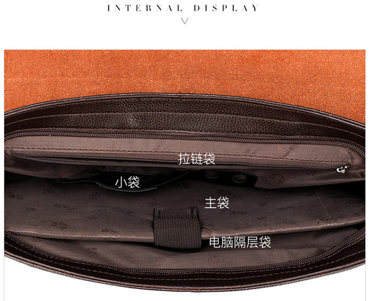 HTB1AwuaSAzoK1RjSZFlq6yi4VXa4 Famous Brand Business Men Briefcase Leather Laptop Handbag Casual Man Bag For Lawyer Shoulder Bag Male Office Tote Messenger Bag