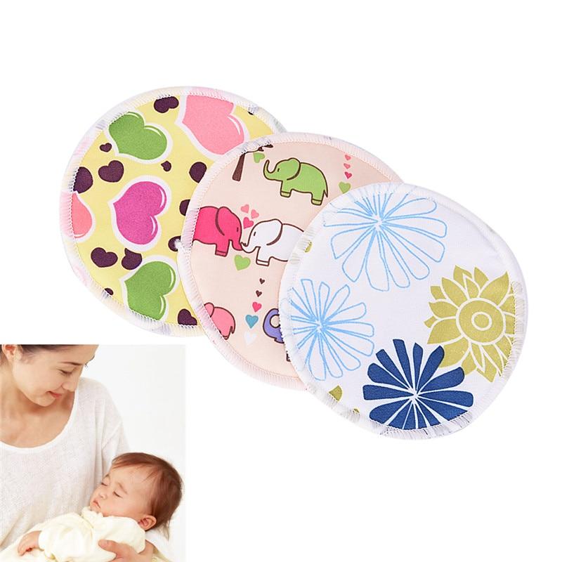 1PCS Random Color Bamboo Nursing Pads Breast Pad For Mum Washable Waterproof Feeding Pad Bamboo Reusable Pads