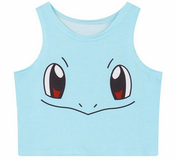 Harajuku NICE & CUTE Women Cosplay Costume Pokemon Go Pocket Monster Sailor Moon Crystal Crop   Tops   Vest   Tank     Tops   Shirt