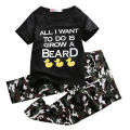 2pc set!!Fashion Baby Infant Boys Outfits Short Sleeve Letter T-shirt O Neck Tops+Long Pants Kids camouflage Clothes