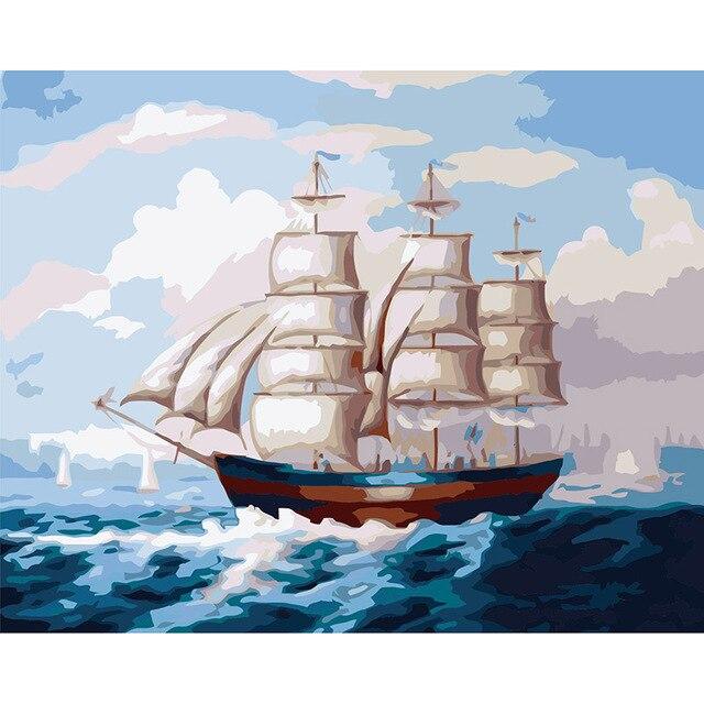 imagem abstrata na parede acrílico navios planície presente vela