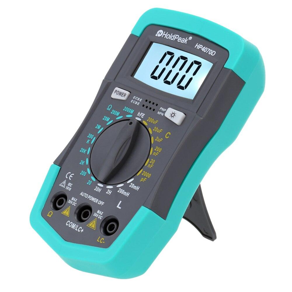 HP4070D Mini Digital-Multimeter Widerstand Meter Kapazität Tester Induktivität Transistor Test HoldPeak Elektrische Instrumente