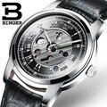 Мужские часы водонепроницаемые швейцарские мужские часы Автоматические Механические БИНГЕР люксовый бренд наручные часы Мужские часы Ске...