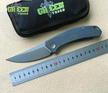 лучшая цена Green thorn JEANS Flipper folding knife m390 steel TC4 Titanium handle outdoor camping hunting pocket kitchen knives EDC tools